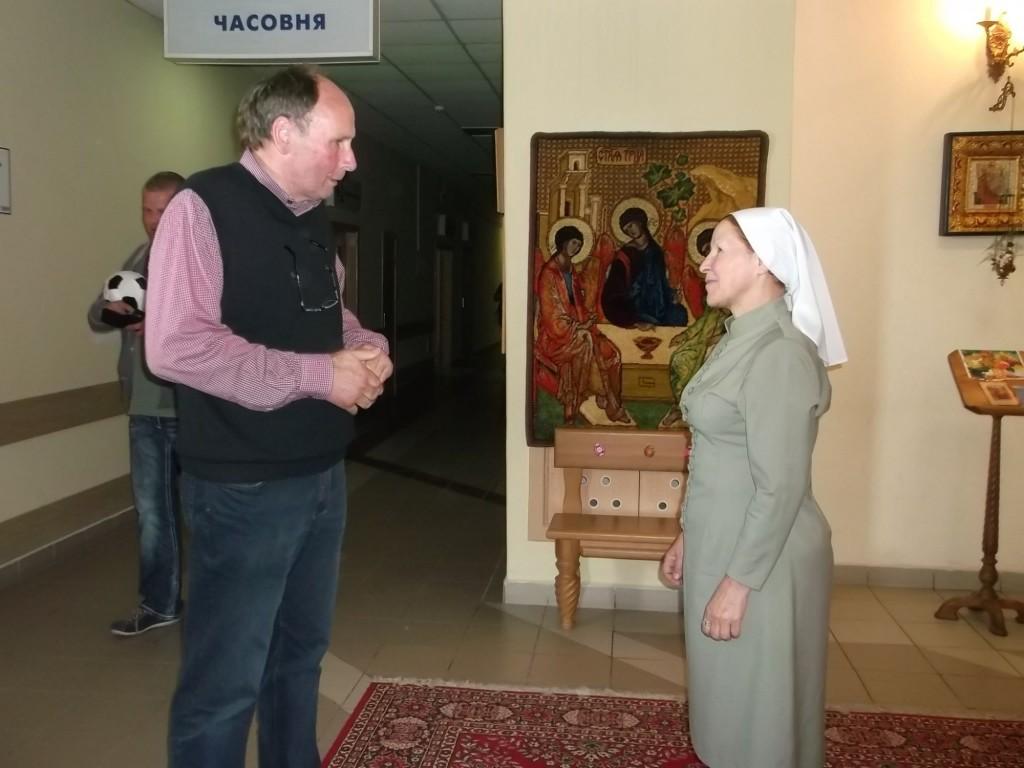 Josef Bolwerk mit Ordensschwester Vera
