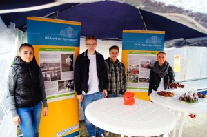 Das Quartett auf seinem Info-Stand zum Greizer Park- und Schlossfest 2015