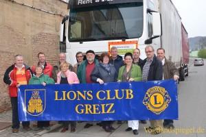 15. April 2016: Start des ersten LKW-Zuges nach Brest - mit glücklichem Ausgang