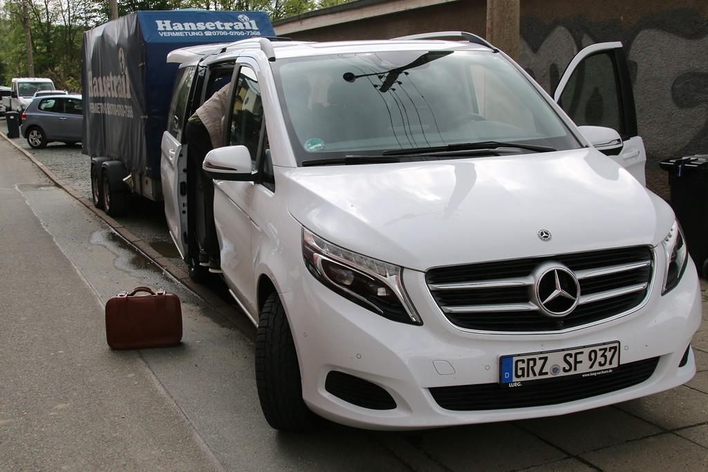 Das Begleitfahrzeug, bereit gestellt und gefahren von Sebastian Sommerfeld